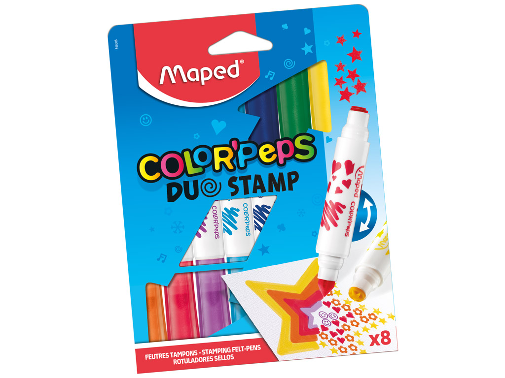 Viltpliiats ColorPeps Duo Stamp 8tk
