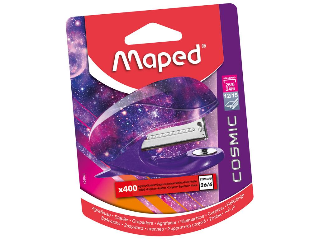 Segiklis Maped Cosmic Teens Mini + 400 sąsagėlė blister.