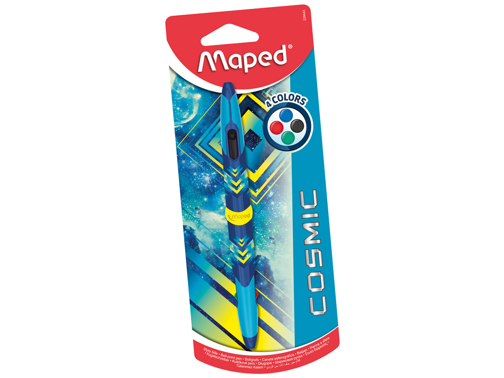 Pastapliiats Maped Cosmic Teens Blue Twin 4 värvi blistril