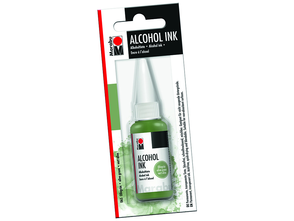 Alkoholitint Marabu 20ml 065 olive green blistril