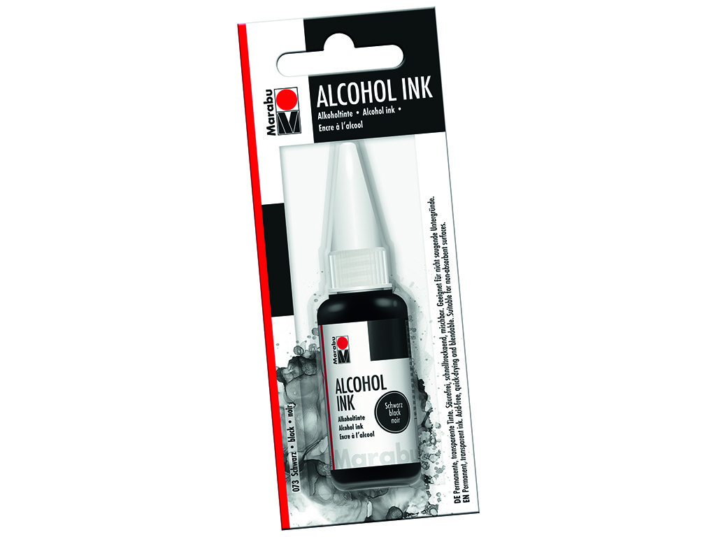 Alkoholitint Marabu 20ml 073 black blistril