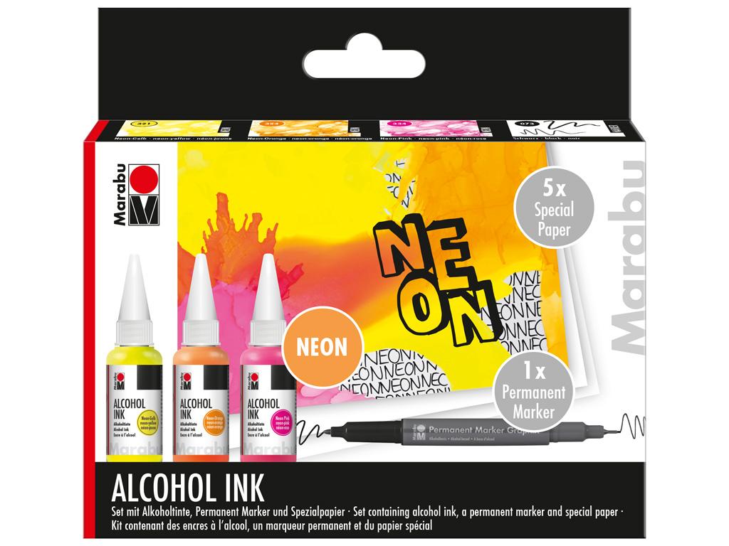 Alkoholitindi komplekt Marabu Neon