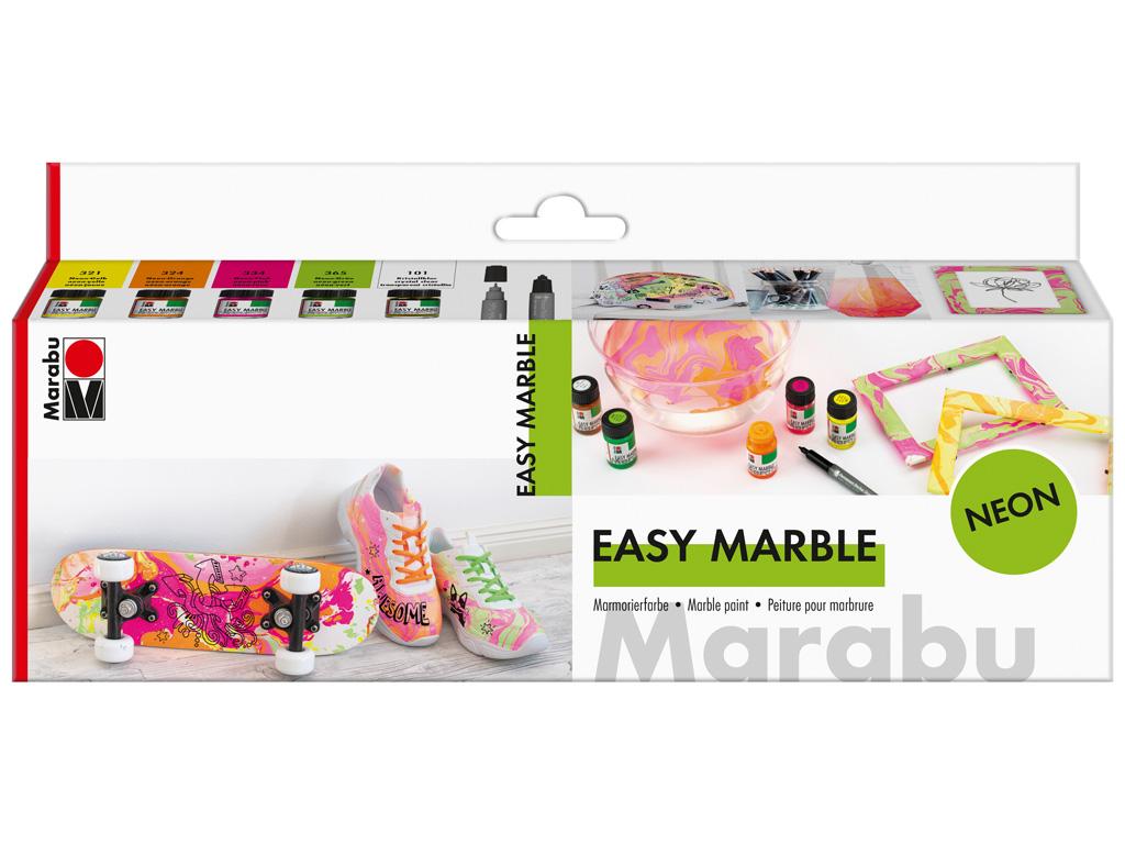 Marmoriseerimisvärv 5x15ml Neon+marker