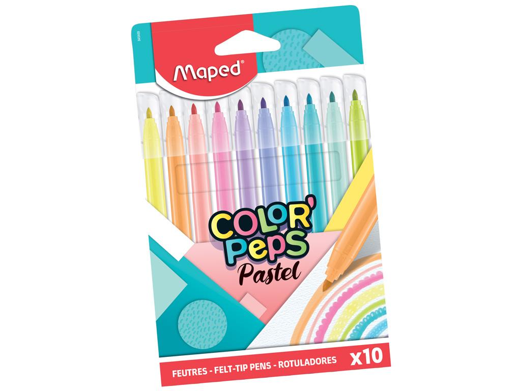 Flomasteris ColorPeps Pastel 10vnt.