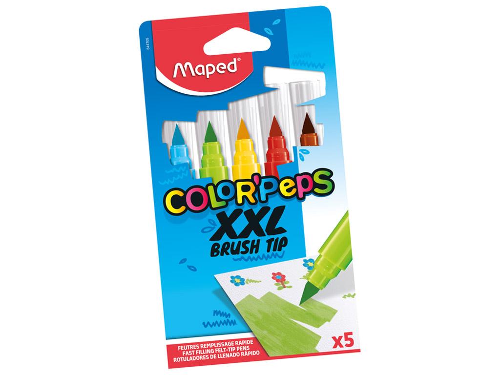 Flomasteris ColorPeps XXL Brush 5vnt.
