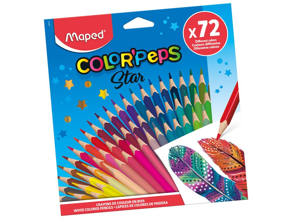 Värvipliiats ColorPeps Star 72tk