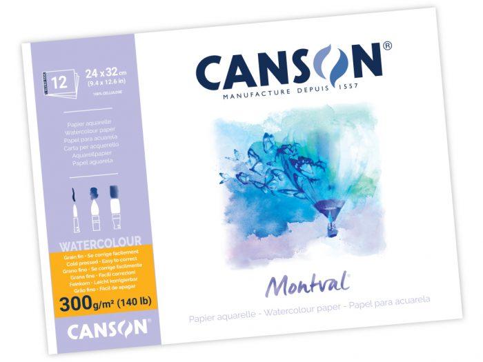 Akvarelinio popieriaus sąsiuvinis Canson Montval