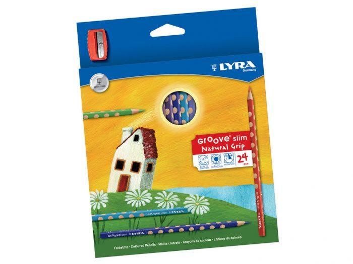 Spalvotas pieštukas Lyra Groove Slim - 1/2