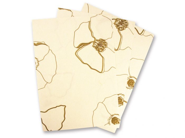 Note paper A4 mulberry paper Wild Rose 80g
