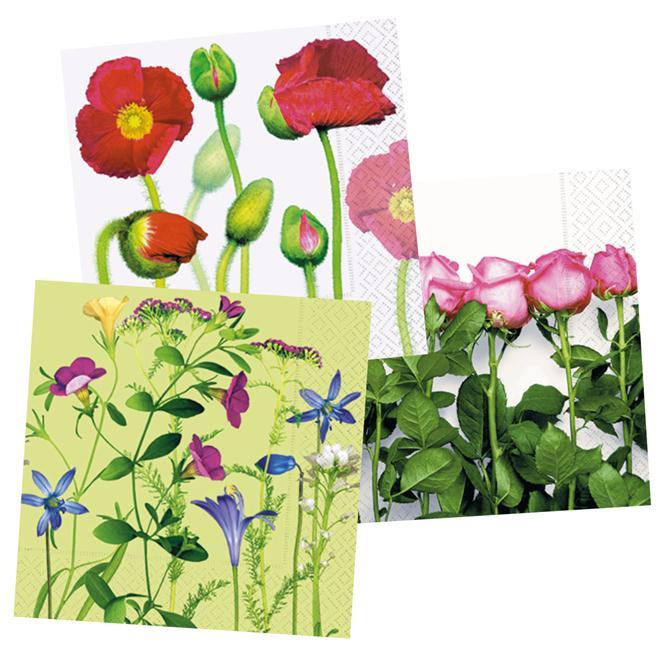 Salvrätikud Colourful Life 25x25cm 20tk lilled