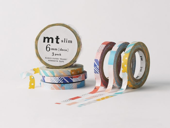 Masking tape mt slim deco 3pcs - 1/4