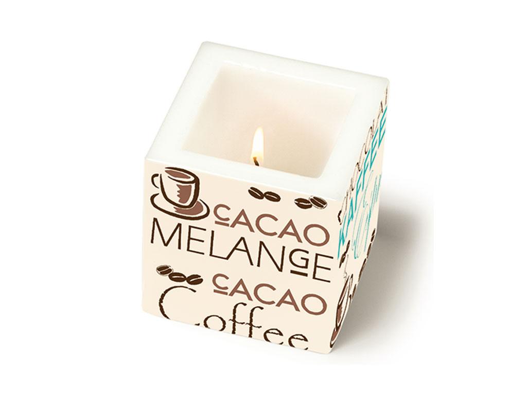 Žvakė Paper+Design kvadratas 8x8x8cm
