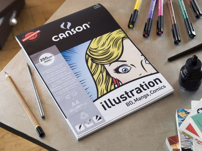 Piešimo bloknotas Canson Illustration