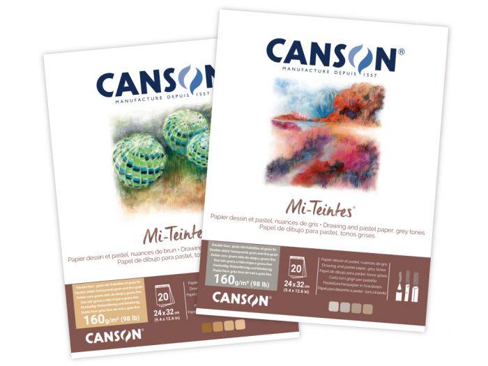 Bloknotas piešimui pastele Canson Mi-Teintes