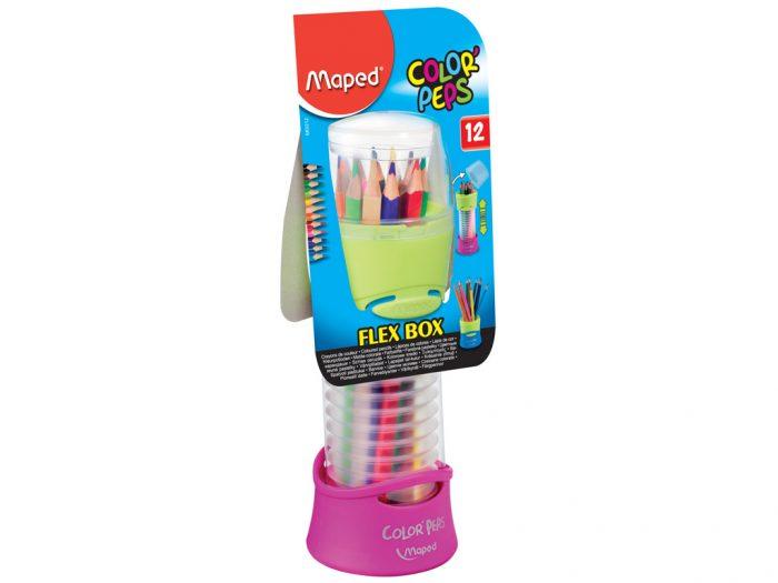 Spalvotas pieštukas Maped Color'Peps Flex Box - 1/3