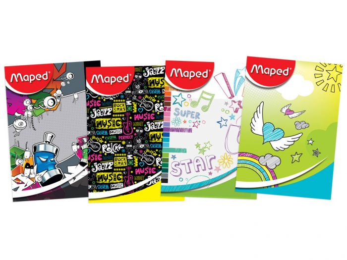 Exercise book Maped 36 sheets assortment II
