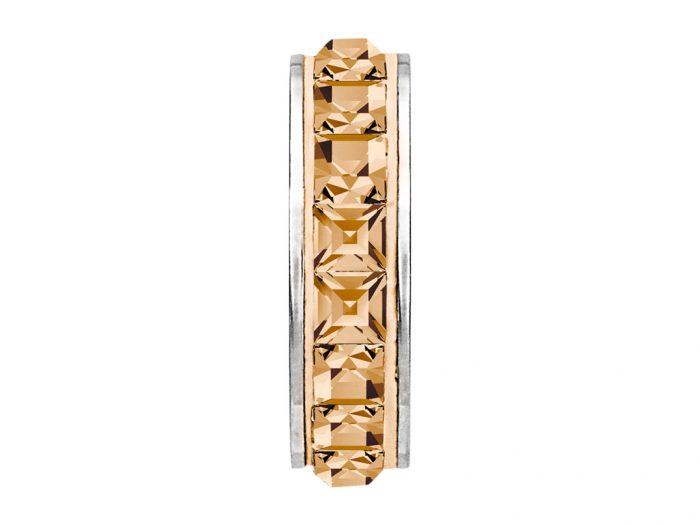 Aizbāznis-kristāla pērle Swarovski BeCharmed Pave 81001 13mm