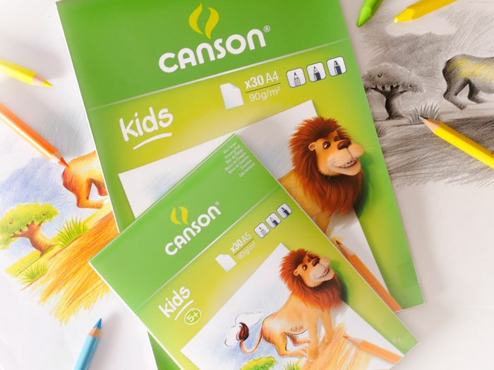 Joonistusplokk Canson Kids 90g