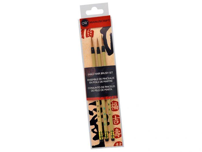 Kinų kaligrafijos teptukų rinkinys Manuscript sabalas