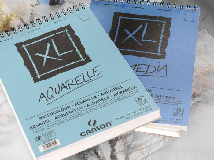 Akvarelinio popieriaus sąsiuvinis Canson XL Aquarelle - 1/2