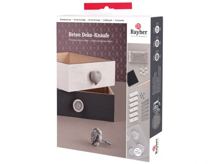 Creative cement Rayher knobs 6pcs set - 1/5