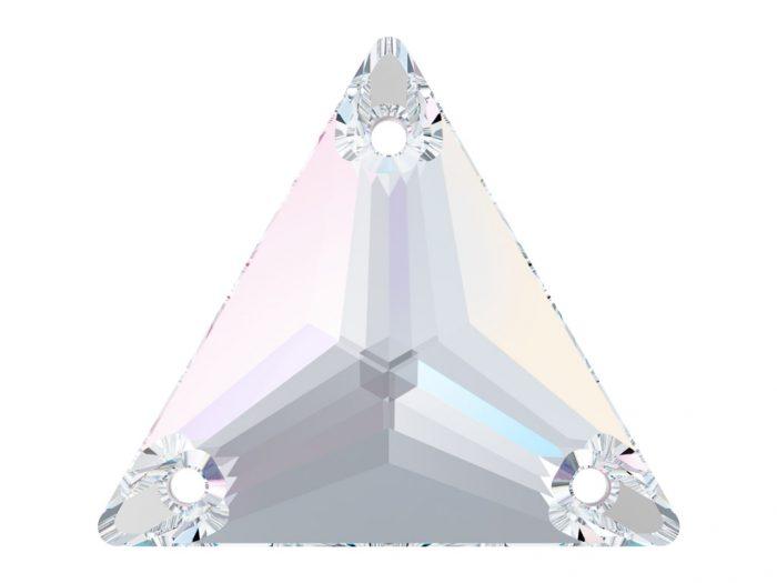 Kristallhelmes õmblemiseks Swarovski kolmnurk 3270 16mm - 1/2