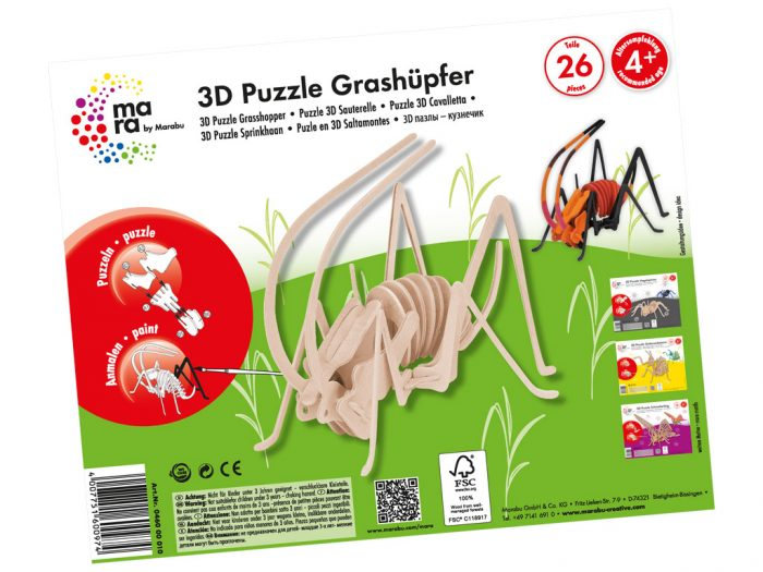 3D puzle koka mara by Marabu kukaiņi - 1/3