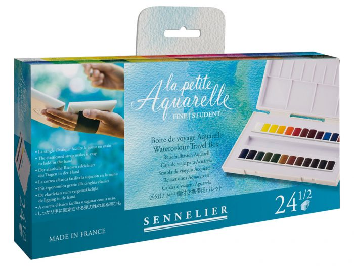 Akvarellnööbi 1/2 komplekt Sennelier La Petite Aquarelle Travel Box - 1/3