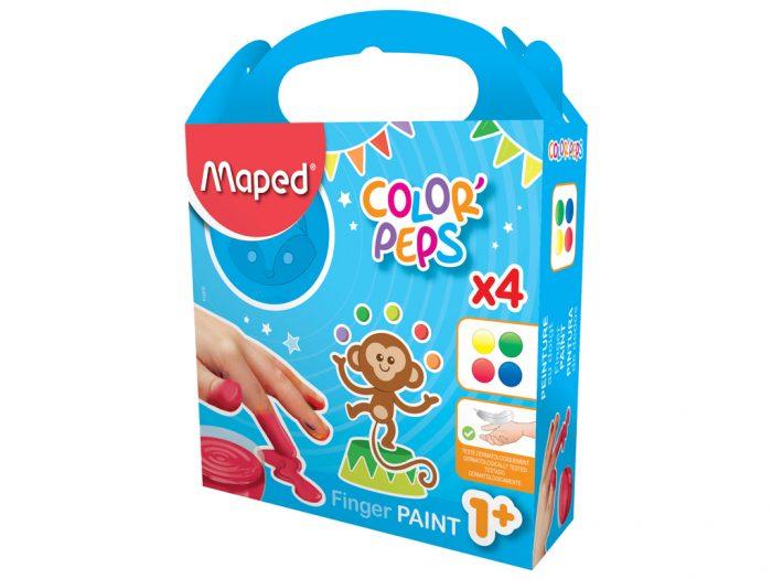 Pirštais kabinami dažų rinkiny Maped Color'Peps Early Age