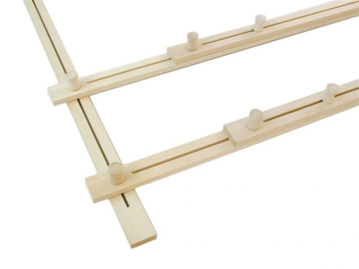 Wooden silk frame H Dupont adjustable