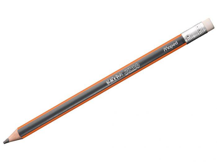 Graphite pencil Maped Black'Peps Jumbo with eraser