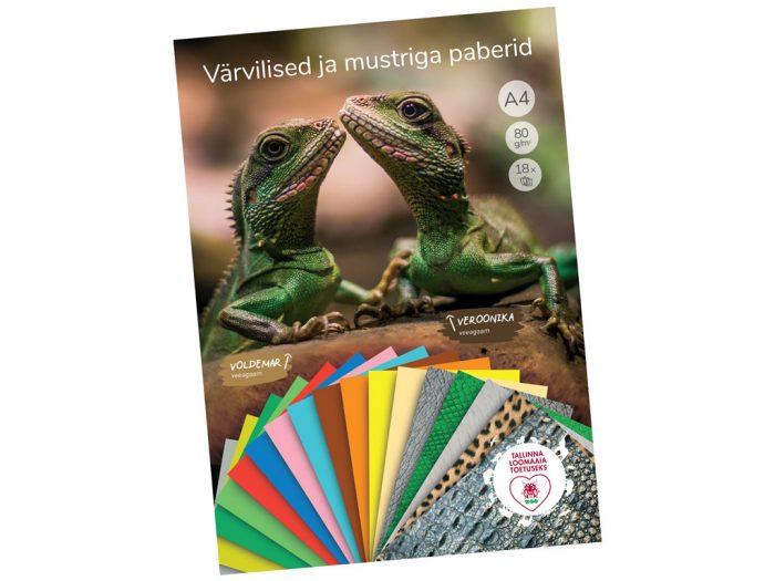 Coloured paper pad Tallinna Loomaaia Toetuseks - 1/2