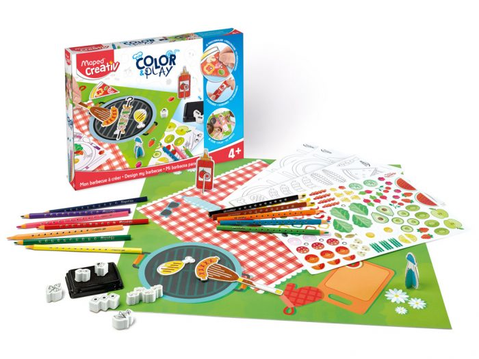 Meisterduskomplekt Maped Creativ Color&Play Design my Barbecue - 1/6