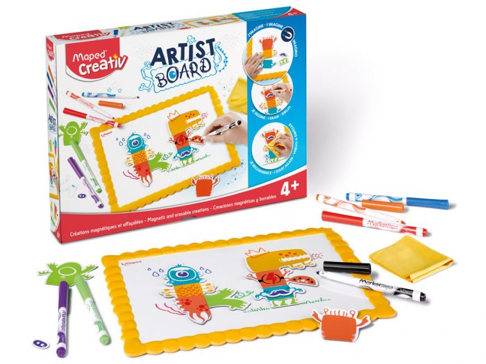 Joonistuskomplekt magnettahvliga Maped Creativ Artist Board Monsters - 1/3