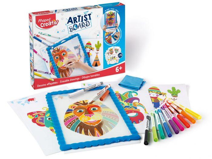 Joonistuskomplekt tahvliga Maped Creativ Artist Board - 1/2