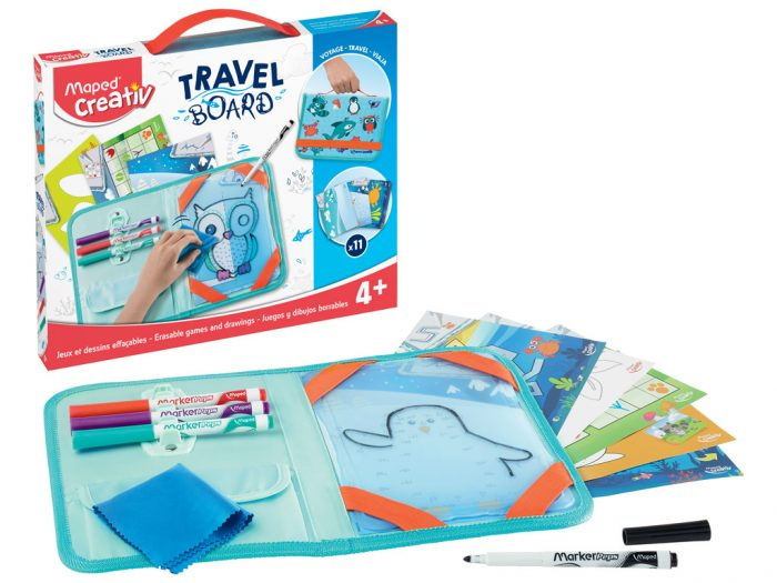 Joonistuskomplekt tahvliga Maped Creativ Travel Board Animals - 1/6