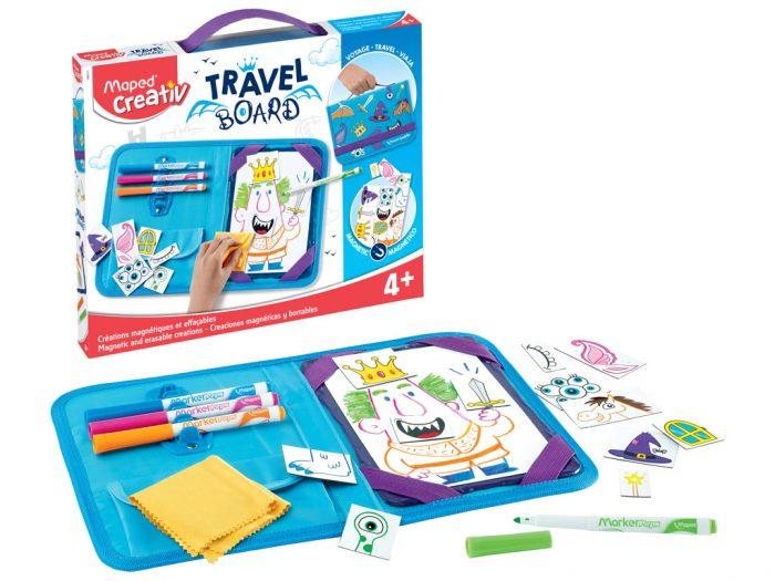Joonistuskomplekt magnettahvliga Maped Creativ Travel Board Knights and Princesses - 1/6