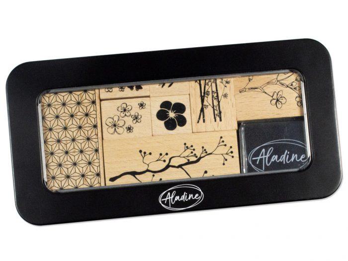 Stamp set Aladine in metal box - 1/4