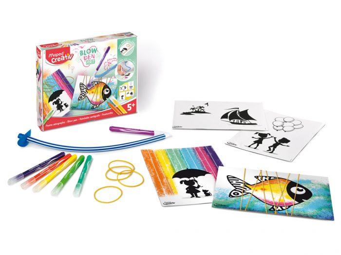 Pūšamie flomasteri komplekts Maped Creativ Blow Pen String'Art - 1/5