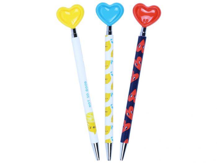 Ballpoint pen M&G Hearts Lemon