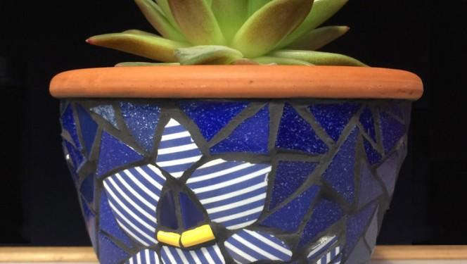 Mosaiikkividega lillepott